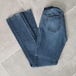 Straight, long, Indigo Blue maternity jeans